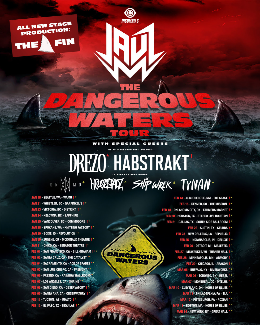 Jauz - The Dangerous Waters Tour