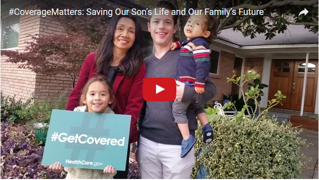 YouTube Embedded Video: #CoverageMatters: Saving Our Son's Life and Our Family's Future