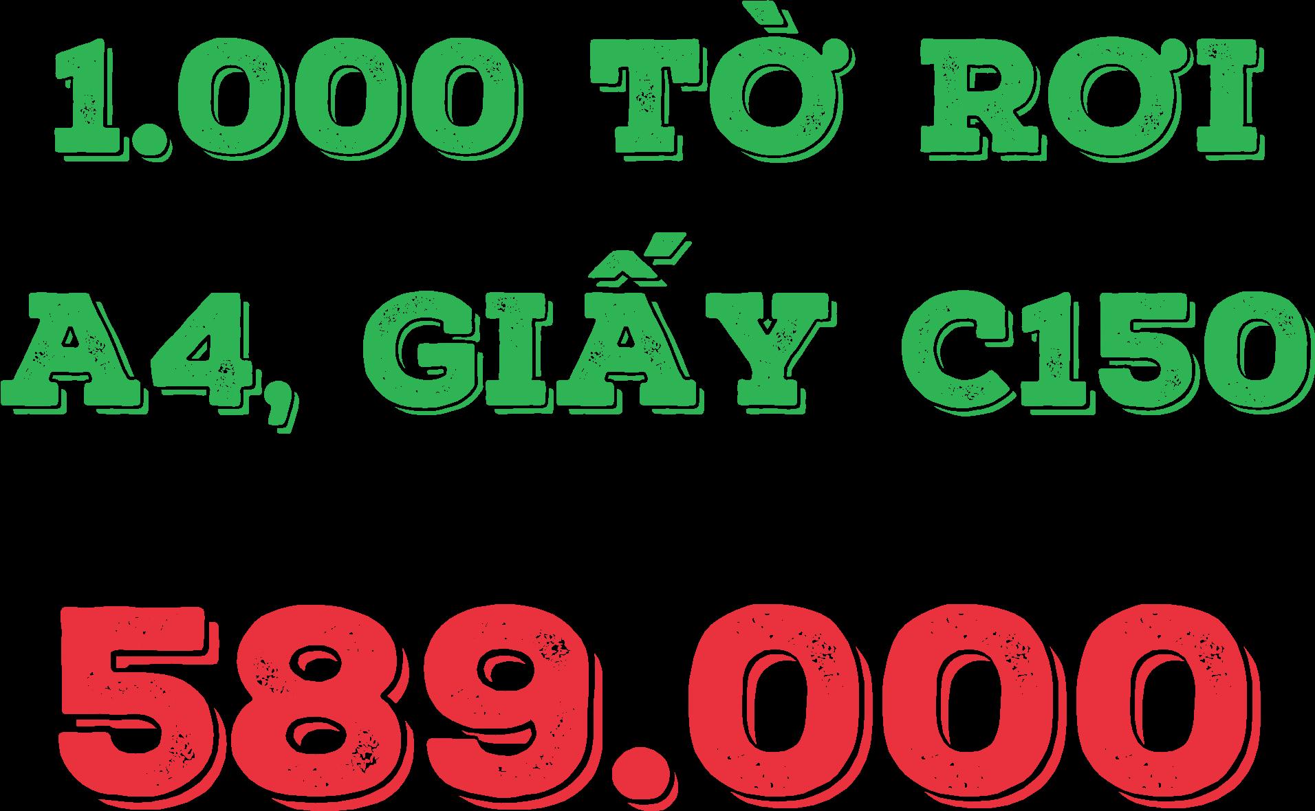 THIẾT KẾ MIỄN PHÍ 1000 tờ rơi 589.000, 1.000 cuon Catalogue 3.899.000, - 1
