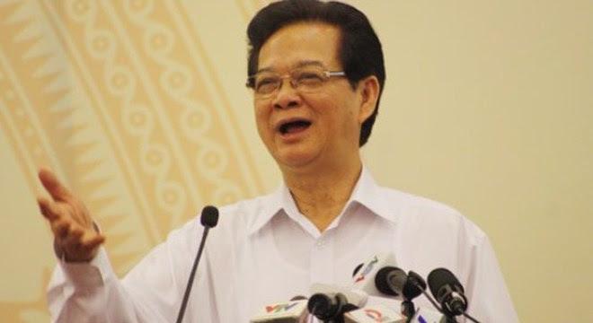 Thủ tướng Nguyễn Tấn Dũng phát biểu tại hội nghị toàn quốc ngành KH-ĐT đang diễn ra tại Đà Nẵng. (Ảnh: HC).