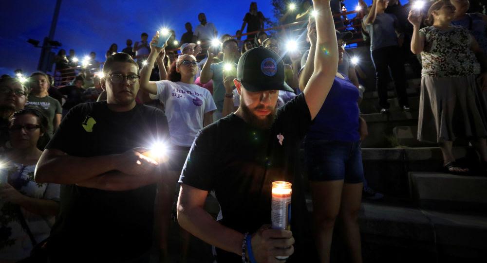 Ceremonia de luto tras masacre en El Paso (EEUU), el 3 de agosto de 2019