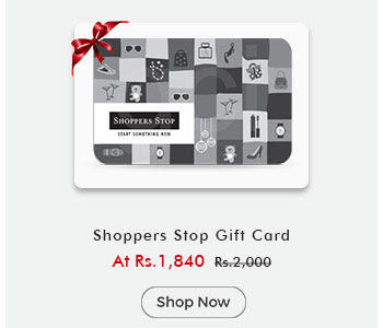 Shoppers Stop Gift Card By ShopClues @ Rs.1,840
