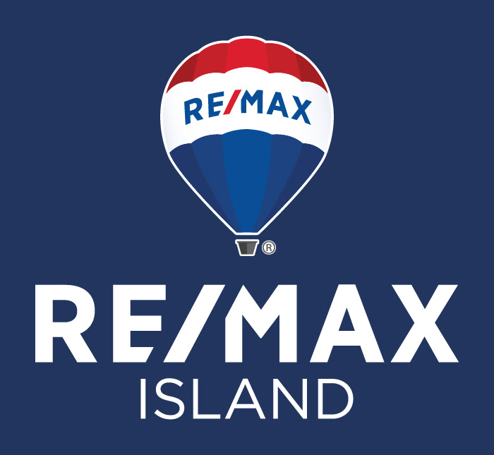 REMAX Island Logo Vertical Reversed