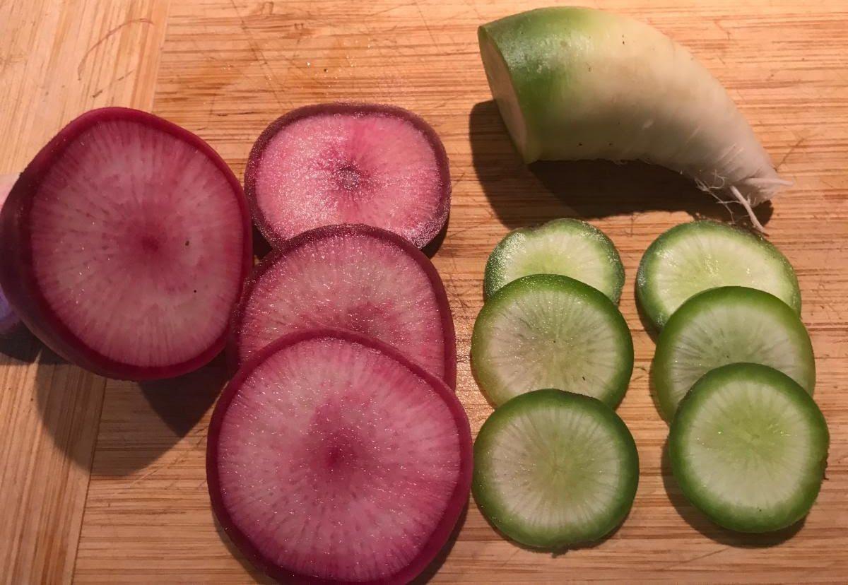 Misato Rose and Green Meat Watermelon Radish