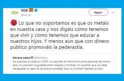 Twitter mantendrá congelada la cuenta de Vox hasta que borre un comentario ofensivo para el colectivo LGTBI