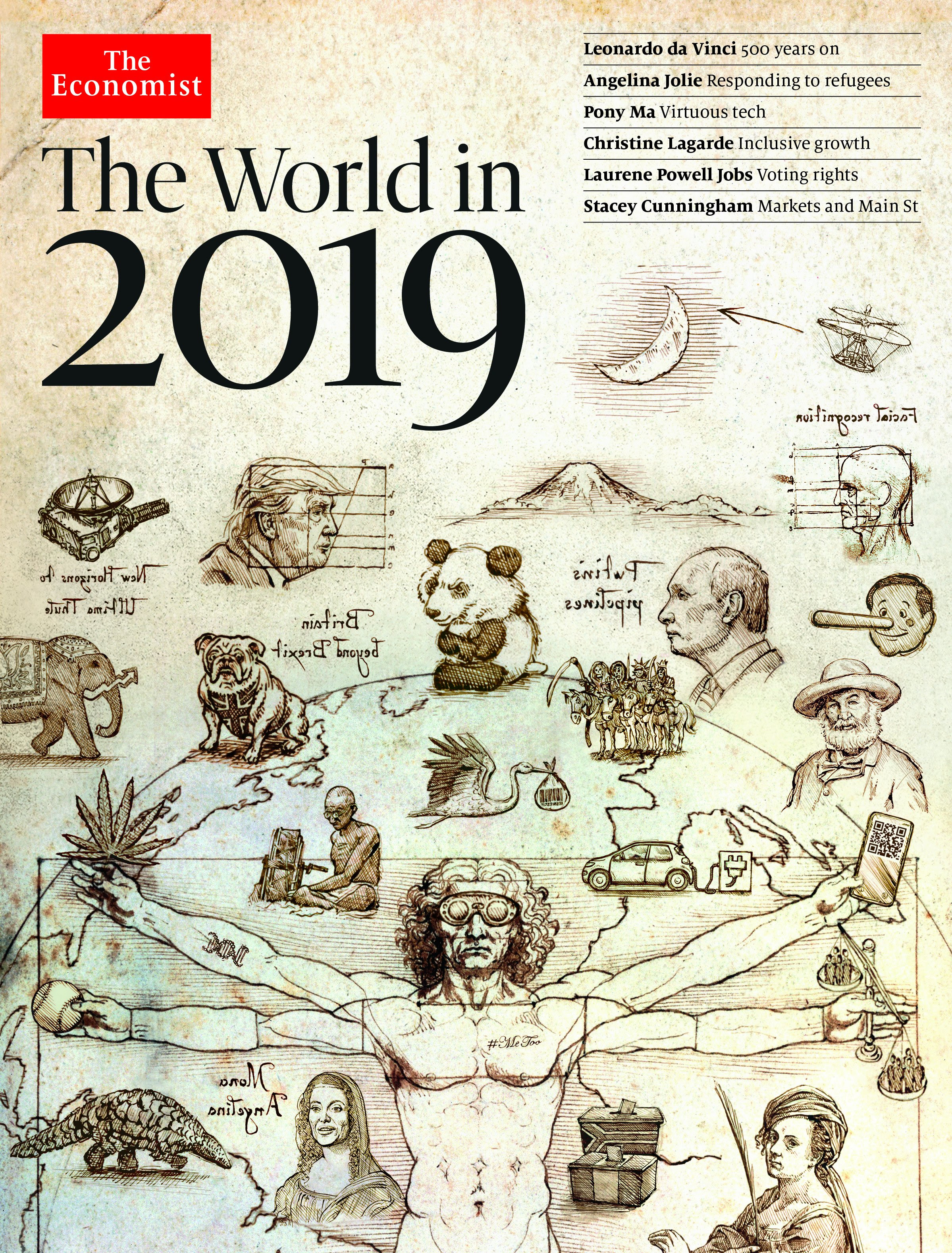 "The Meaning of the Cryptic Messages on The Economist's ""The World in 2019"" Cover"