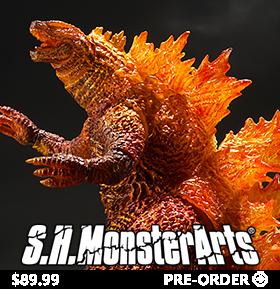 Godzilla: King of the Monsters S.H.MonsterArts Burning Godzilla