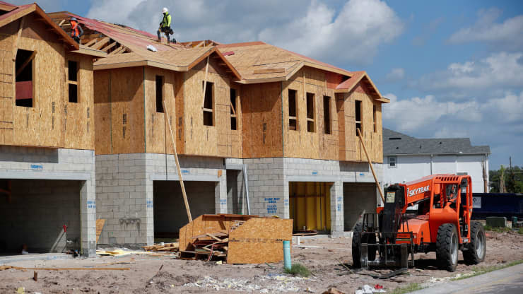 New townhomes are being built in Florida