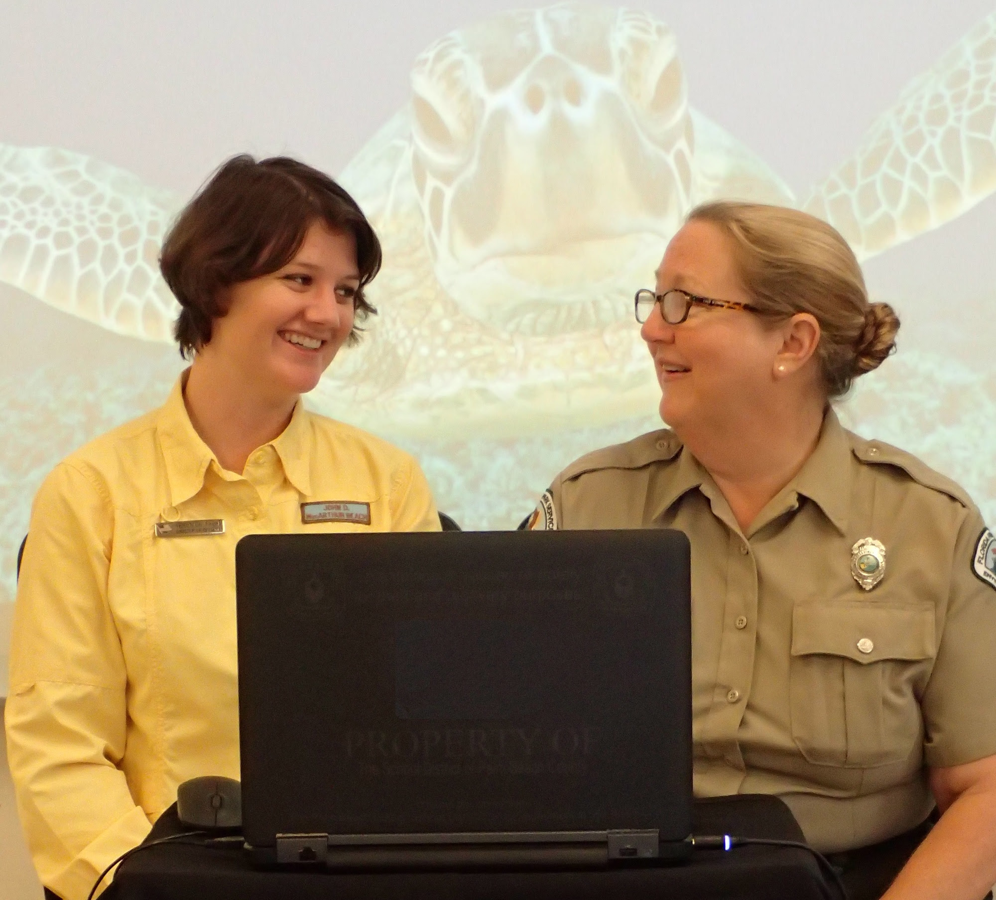 Two Park Staff Members participate in a Virtual Field Trip