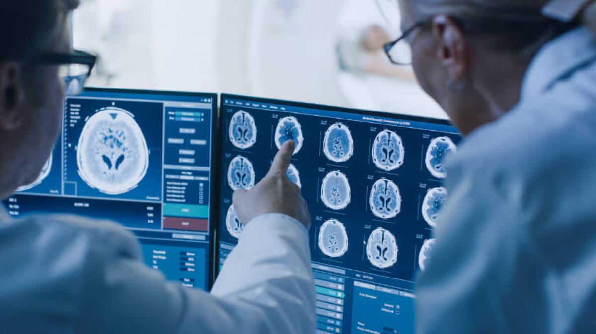 MRI scan for traumatic brain injury case