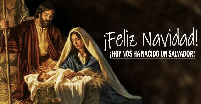 feliz navidad hoy nace jesus salvador pesebre nacimiento jose maria nino establo