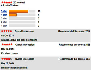 Image of user reviews of the DCCM course in CDC TRAIN