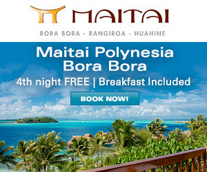 Maitai Polynesia Bora Bora - 4th night FREE + daily breakfast