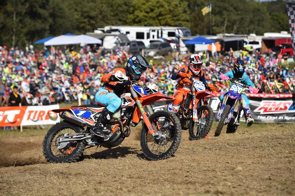 Becca Sheets snagged the holeshot on Sunday morning and lead every lap from start to finish.