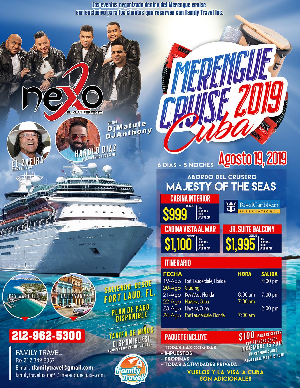 Merengue Cruise 2018
