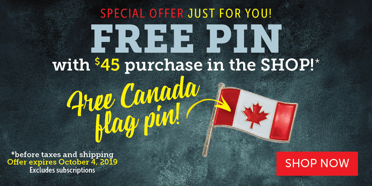 Free Canada Flag pin