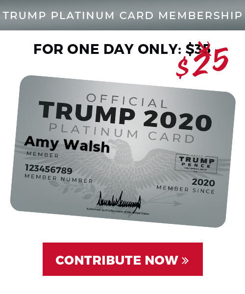 2020 Trump Platinum Card
