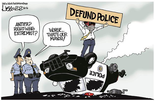 cartoon depicting protestors
