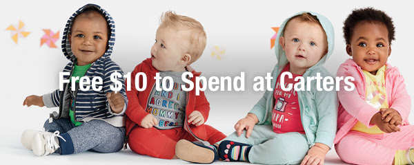 FREE $10 to spend at Carter's