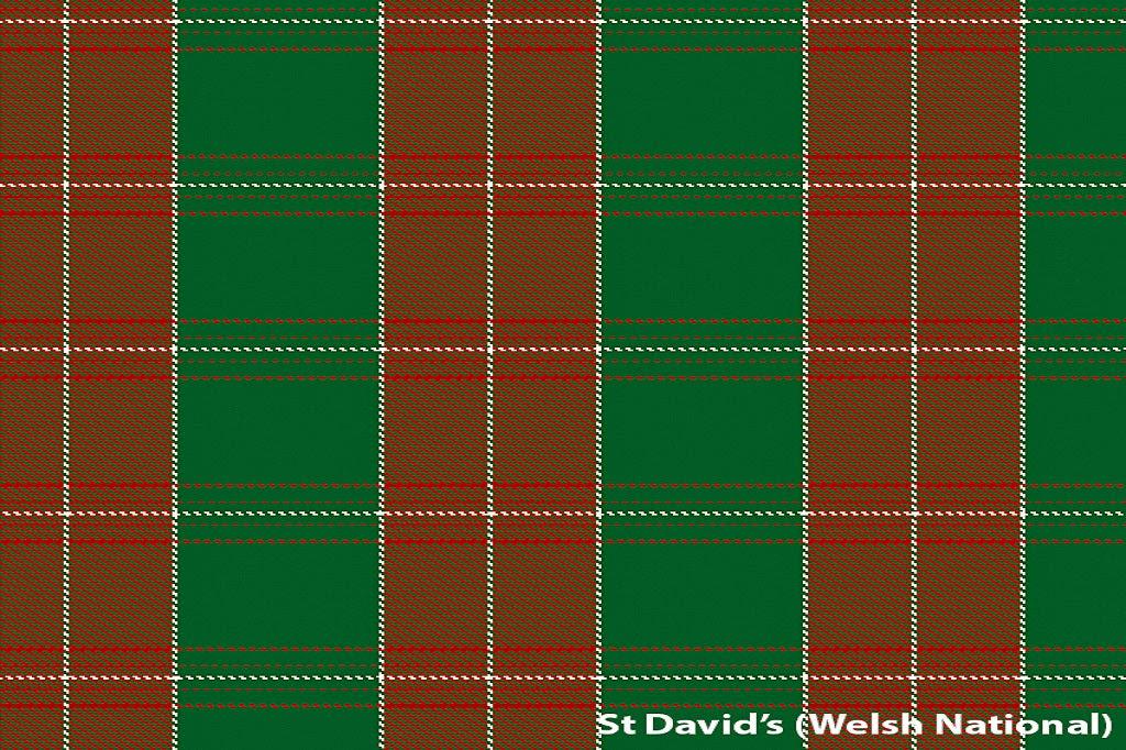Image of Welsh Tartan Scarf - St David's