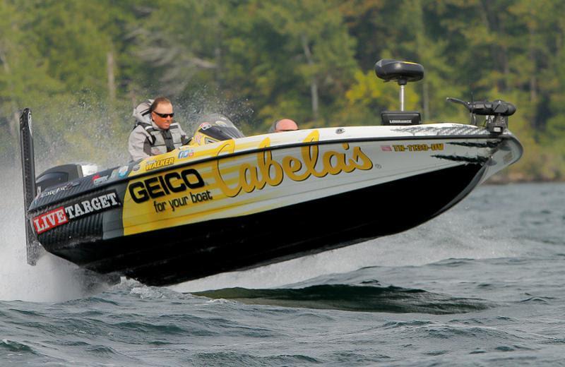 Cabela s geico for your boat pro angler david walker for Cabela s fishing boats