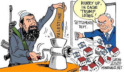 settlements Israel Palestine Trump US elections Netanyahu Mondoweiss Latuff
