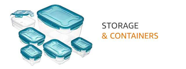 Kitchen storage & containers from AmazonBasics