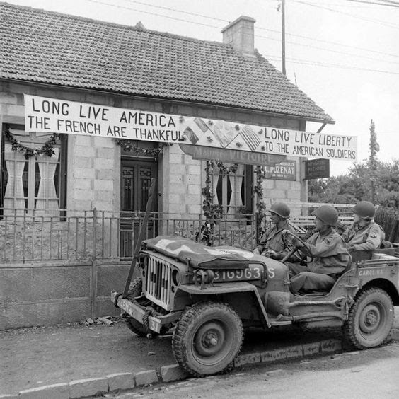 """Fourth of July in Normandy, 1944 The pictures in this album came from two 4th of July albums, one credited to LIFE Photographer Joe Scherschel, the other to """"Scherschelâ€, but I believe the pictures were really taken by brother Frank Scherschel Also these pictures were inexplicably dated August 1944 From the LIFE Magazine Archives - Frank or Joe Scherschel Photographer"""