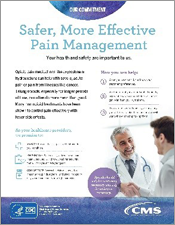 Poster for Safer, More Effective Pain Management