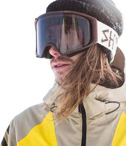 Shred Simplify Natural Goggles and Kevin Backstrom