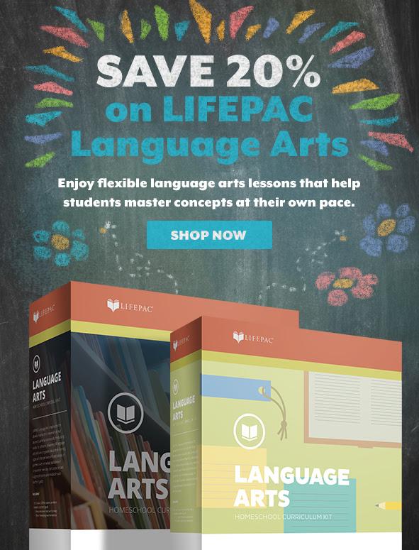 Save 20% on LIFEPAC Language Arts