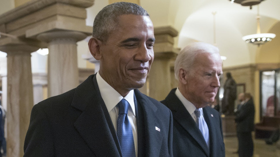 Biden and Obama are still BFFs - press secretary says they are in contact to 'consult and talk about a range of issues'