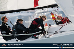 J/70 two on two team racing at YC Monaco