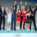 Russian skaters celebrated winning the gold medal in team competition on Sunday.
