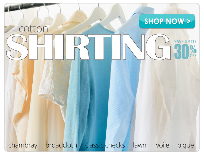 up to 30% off all Apparel Shirting Fabric