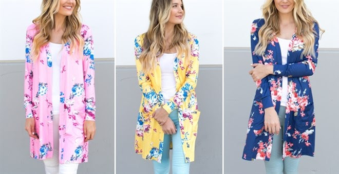 HOT!! Floral Pocket Cardigan!
