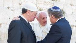 Papa Francesco Gran Mufti e Gran Rabbino israele