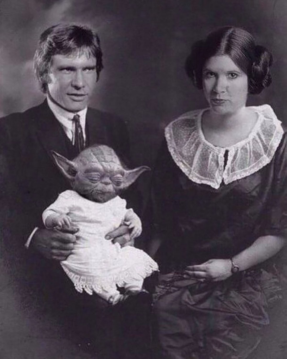 photoshopped image of harrison ford and carrie fisher