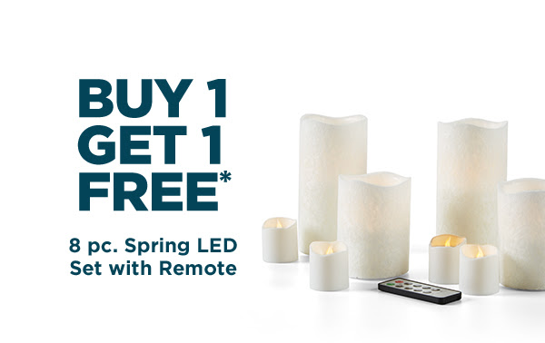 8 pc. Spring LED Set with Remote