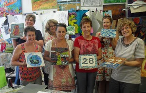 Group with finished pieces 2