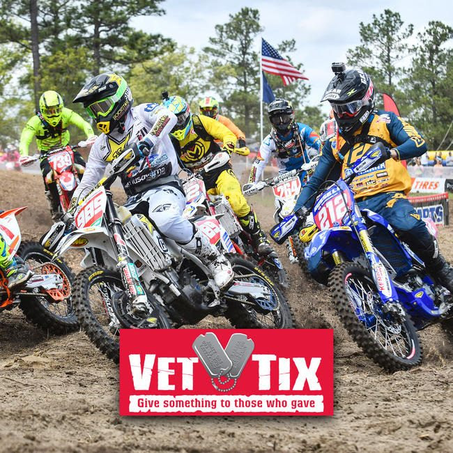 The 2019 AMSOIL Grand National Cross Country Season will be partnering with Vet Tix inviting active duty military and veterans to the races.