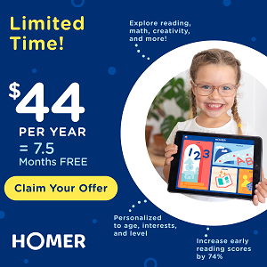 HOMER Learning to Read - One Year for $44 [438626]