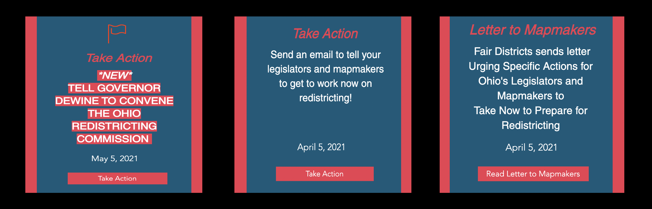Fair Districts encourages volunteers to fight gerrymandering, legislative advocacy and drawing community maps for redistricting.