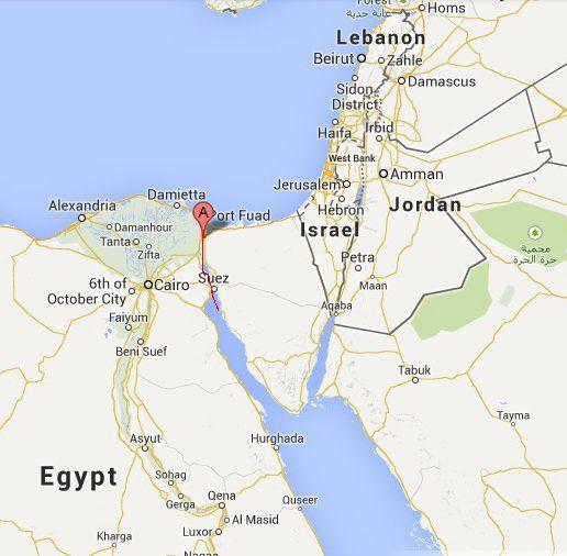 Countries along the Suez