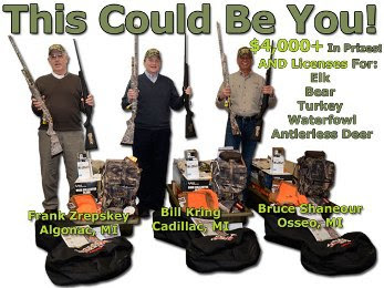 2014 Pure Michigan Hunt winners with prizes