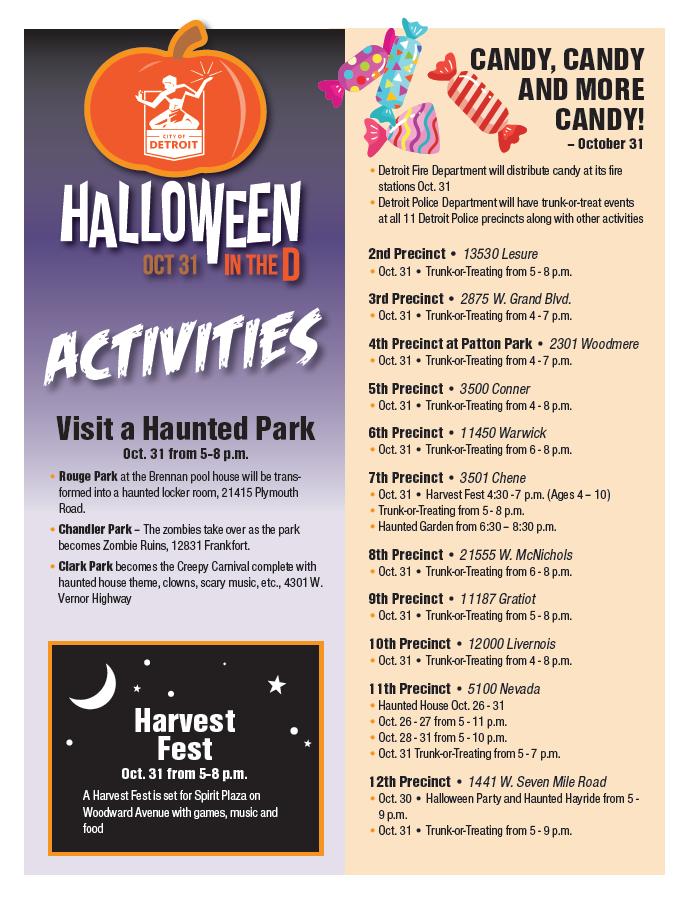 Halloween in the D Activities Citywide