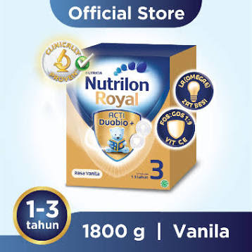 Nutrilon Royal Pronutra 3 Vanila Susu Fomula [1800 g]