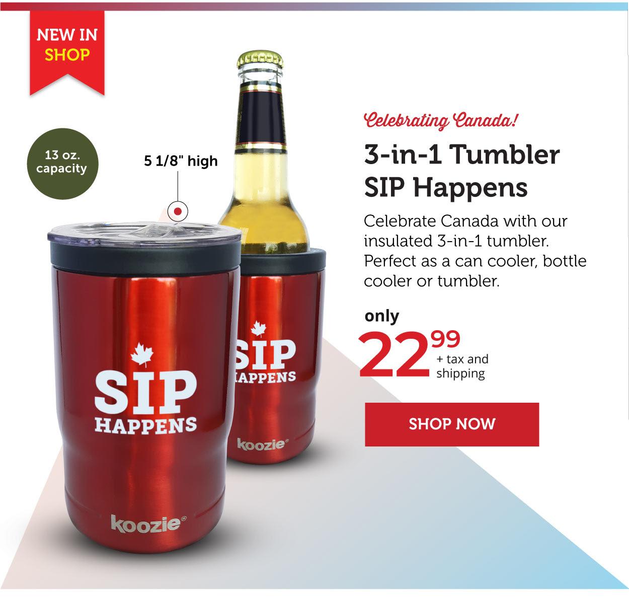 3-in-1 Tumbler SIP Happens