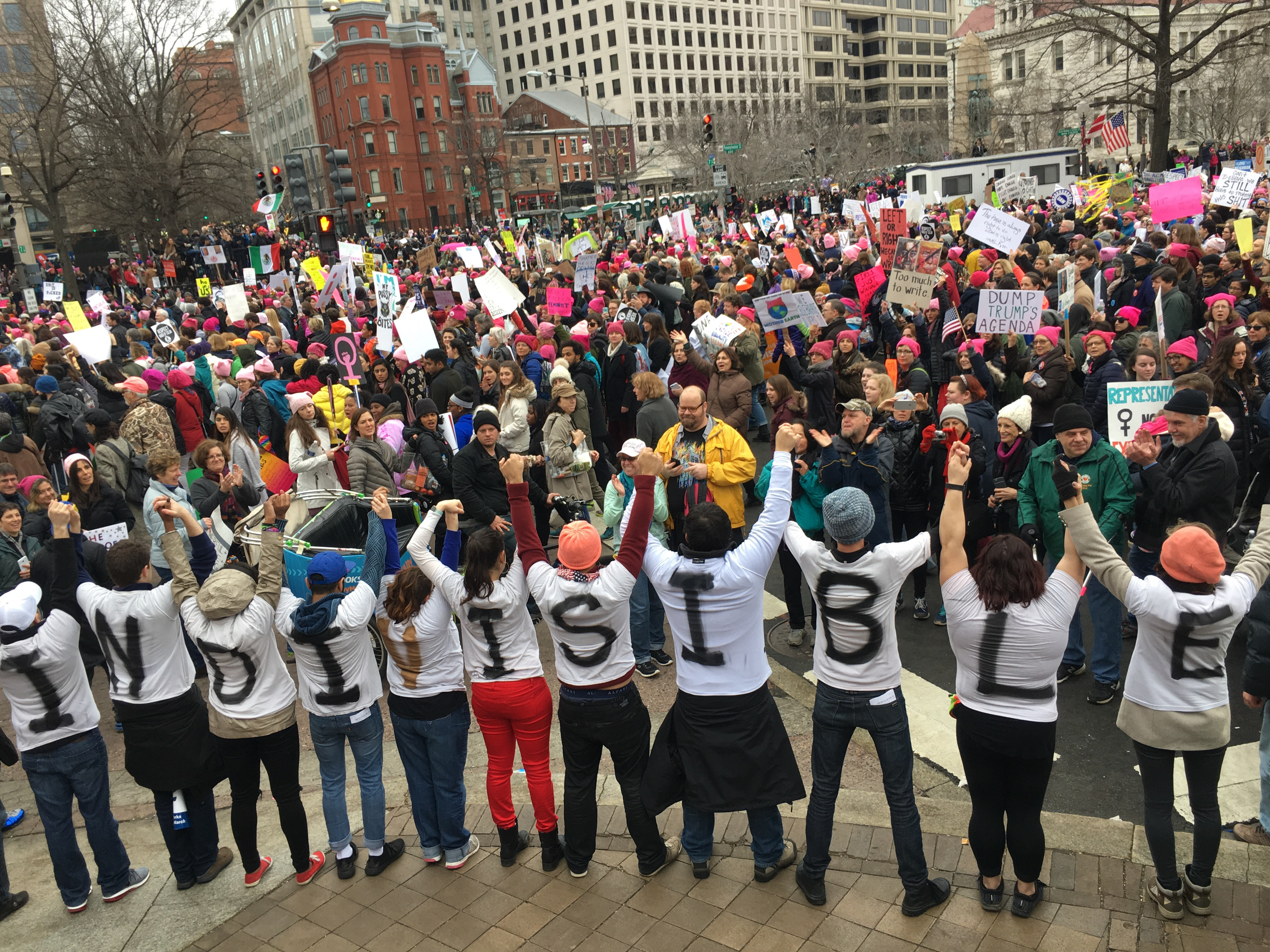 Indivisible Volunteers at the Women's March
