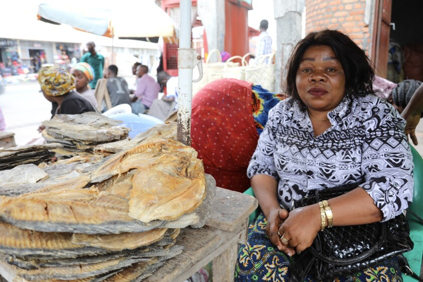 Ngongo Amunazo is a 40-year-old fish trader